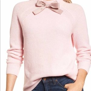 J Crew Pink Bow Sweater